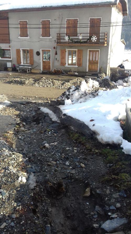 inondation du Pontet en Savoie